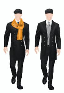 Illustratie hotelkleding doormen Suit Up