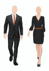 Illustratie Hostess Suit Up