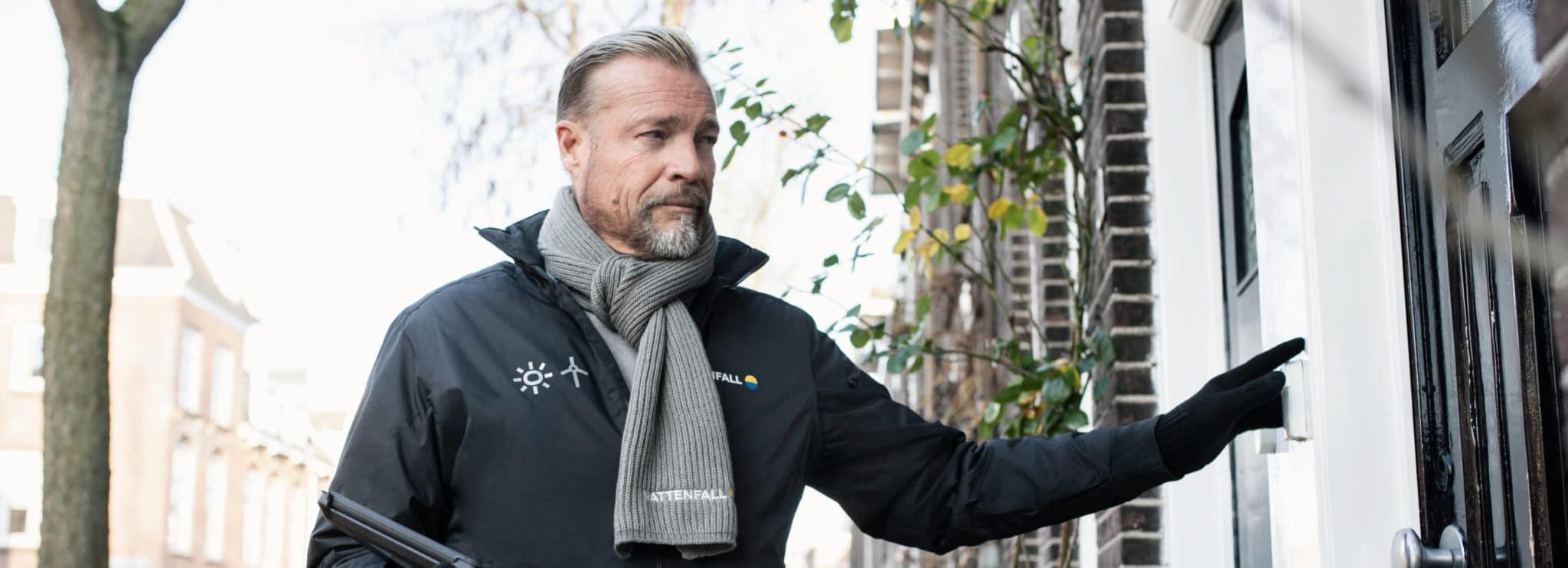 Bedrijfskleding casual Vattenfall verkoper met softshell en shawl