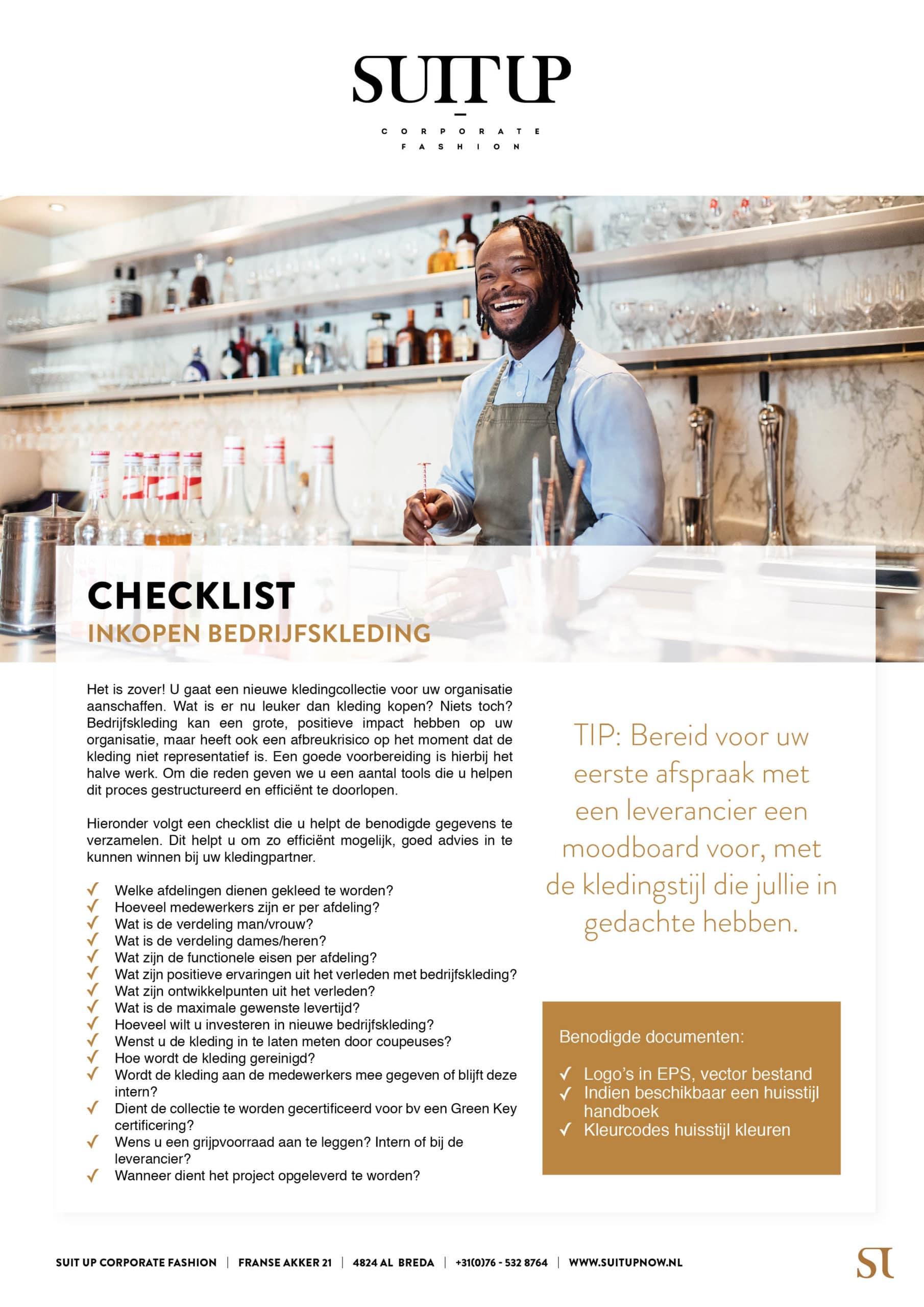 Checklist inkopen bedrijfskleding